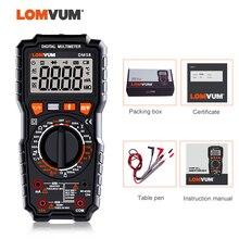 цена на LOMVUM DM68 Ture RMS Digital Multimeter AC/DC Capacitance Temperature Tester LCD  6000 Counts Manual Range Multimeter LIVE Wire