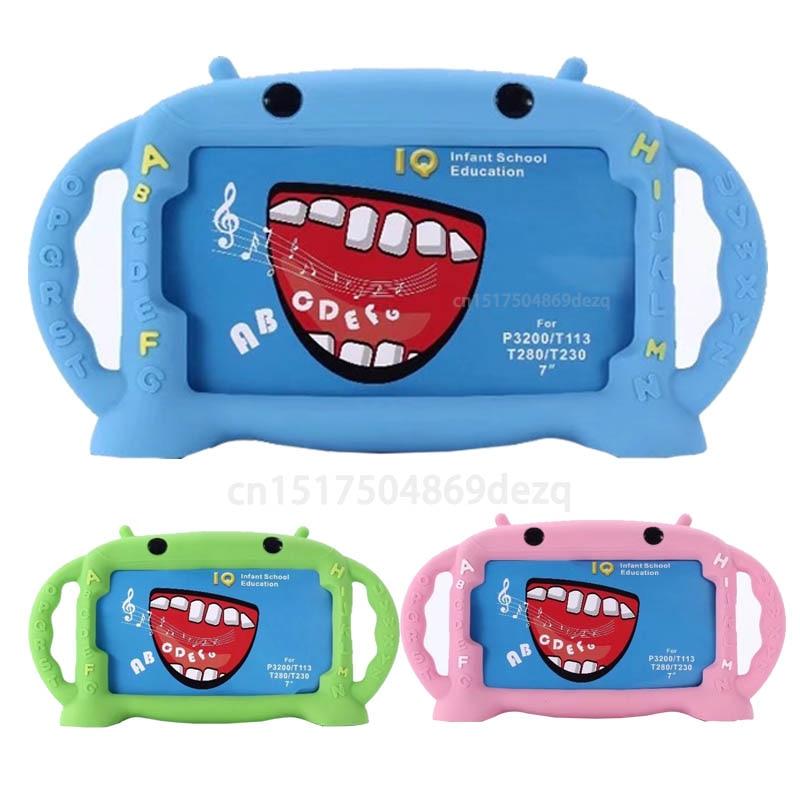 3D Kids Case for Samsung Galaxy Tab 3 7.0 / Tab 4 7.0 / Tab A a6 7.0 / Tab 3 lite 7.0 Cute Cartoon shockproof children's cover