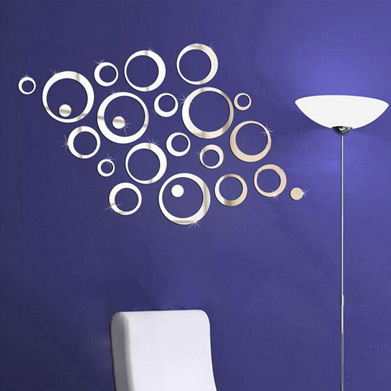 Yeni varış akrilik ayna 3d çıkartmalar yüzey duvar sticker diy - Ev Dekoru - Fotoğraf 6