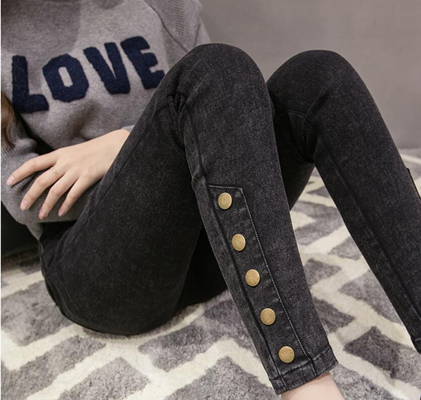 Skinny Jeans Pants Stretch Elastic-Waist Slim Femme Female Women Mujer High for Mom