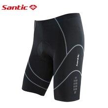 Santic 4D Padded Ventilation Cycling Shorts Men Reflective MTB Road Mountain Bike Anti-skid Silica Gel Hem Triathlon