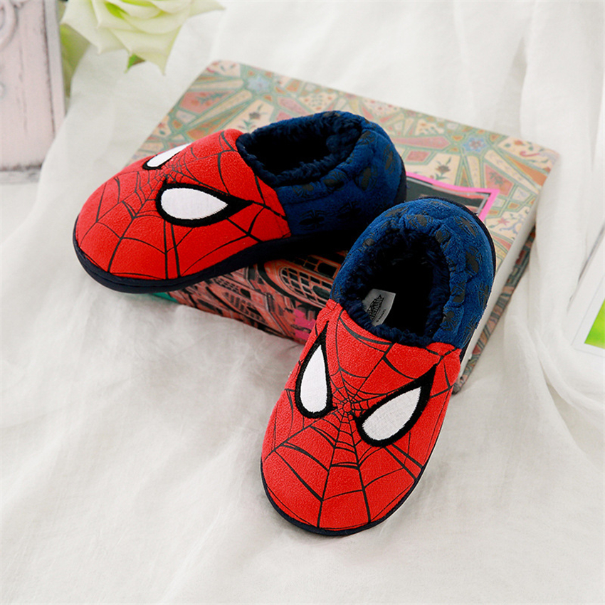 Chaussures de coton d'hiver de bande dessinée Pantoufles de dessin animé Spider-Man Chaussures d'intérieur Pantoufles pour enfants V8ctbOFw