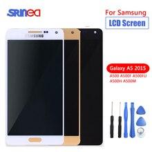 100% probado calidad AAA para Samsung Galaxy A5 2015 A500 A500F A500M pantalla LCD de repuesto con montaje de digitalizador con pantalla táctil