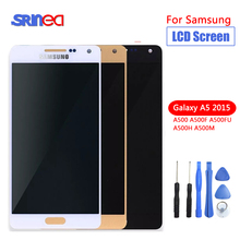 Testati Al 100% di Qualità AAA Per Samsung Galaxy A5 2015 A500 A500F A500M Display LCD di Ricambio Con Touch Screen Digitizer Assembly