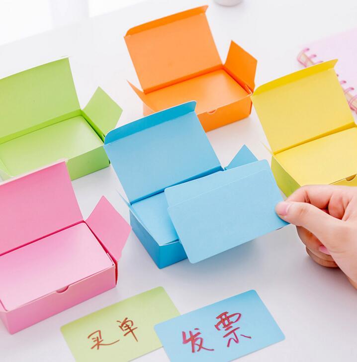 1 Box Leere Handschrift Papier Nachricht Karte Visitenkarten Für Memo Hochzeit Party Grußkarten Schule Schreibwaren