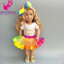 43cm doll dress for 40 Baby rainbow headband set 18 new born baby