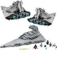 В наличии 1359 шт. Звездные войны Императорский супер Звездный Разрушитель строительные блоки Совместимые части игрушек Legoings Звездные войны