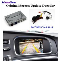 Car Rear View Rearview Backup Camera For Volvo V40 2015 2020 HD Reverse Reversing Parking Camera Interface Improve Decoder