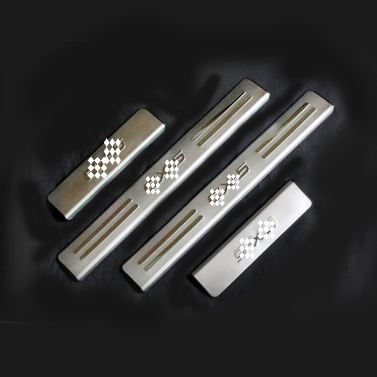 4Pcs/Set Stainless Steel Car Accessories Side Door Sill Scuff Plate Trim Decor Fit For <font><b>Mazda</b></font> <font><b>CX</b></font>-<font><b>5</b></font> <font><b>CX</b></font> <font><b>5</b></font> 2012 2013 <font><b>2015</b></font> <font><b>2016</b></font> image