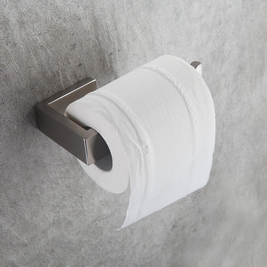 Fapully 4Piece Sets Bathroom Accessories Bath Hardware Sets 304 Stainless Steel Set Single Towel Bar Robe Hook Paper Holder G124