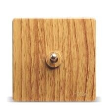 Luxury Yellow Wood Pattern 86 Wall Switch,  1 Gang 2 Way, AC 110 ~ 250V