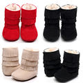 Infant Newborn Baby Girls Tassels Anti Slip Snow Crib Shoes Toddler Warm Cotton Boots