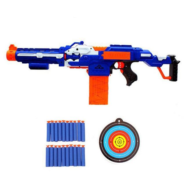Novo Rifle Sniper Arma de Brinquedo de Plástico & 20 Balas Soft & 1 alvo nerf arma de brinquedo elétrico presente de aniversário brinquedos para meninos