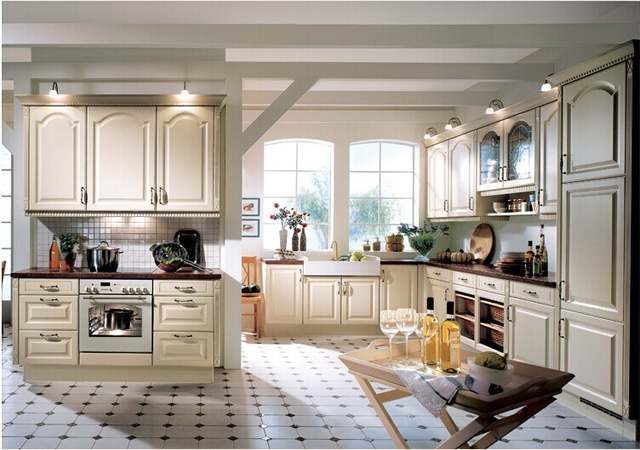 US $3500.0 |Wooden island kitchen cabinet,French style kitchen cabinet  design-in Kitchen Cabinets from Home Improvement on AliExpress