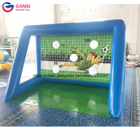 Carnival party rent football shooting target soccer goal, air tight football pitch inflatable soccer field gate