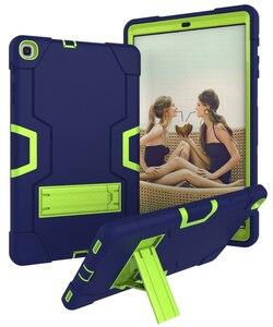 Image 3 - Dành Cho Samsung Galaxy Tab A 10.1 2019 Bao T510 T515 SM T510 SM T515 Chống Sốc Silicon Đứng Coque Funda + Dán Màn Hình tấm Bảo Vệ