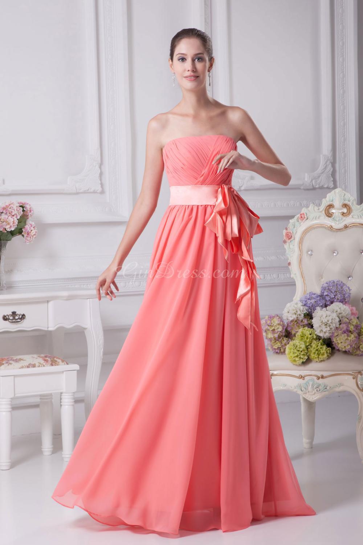 Perfecto Vestido De La Dama De Honor De Color Amarillo Imágenes ...