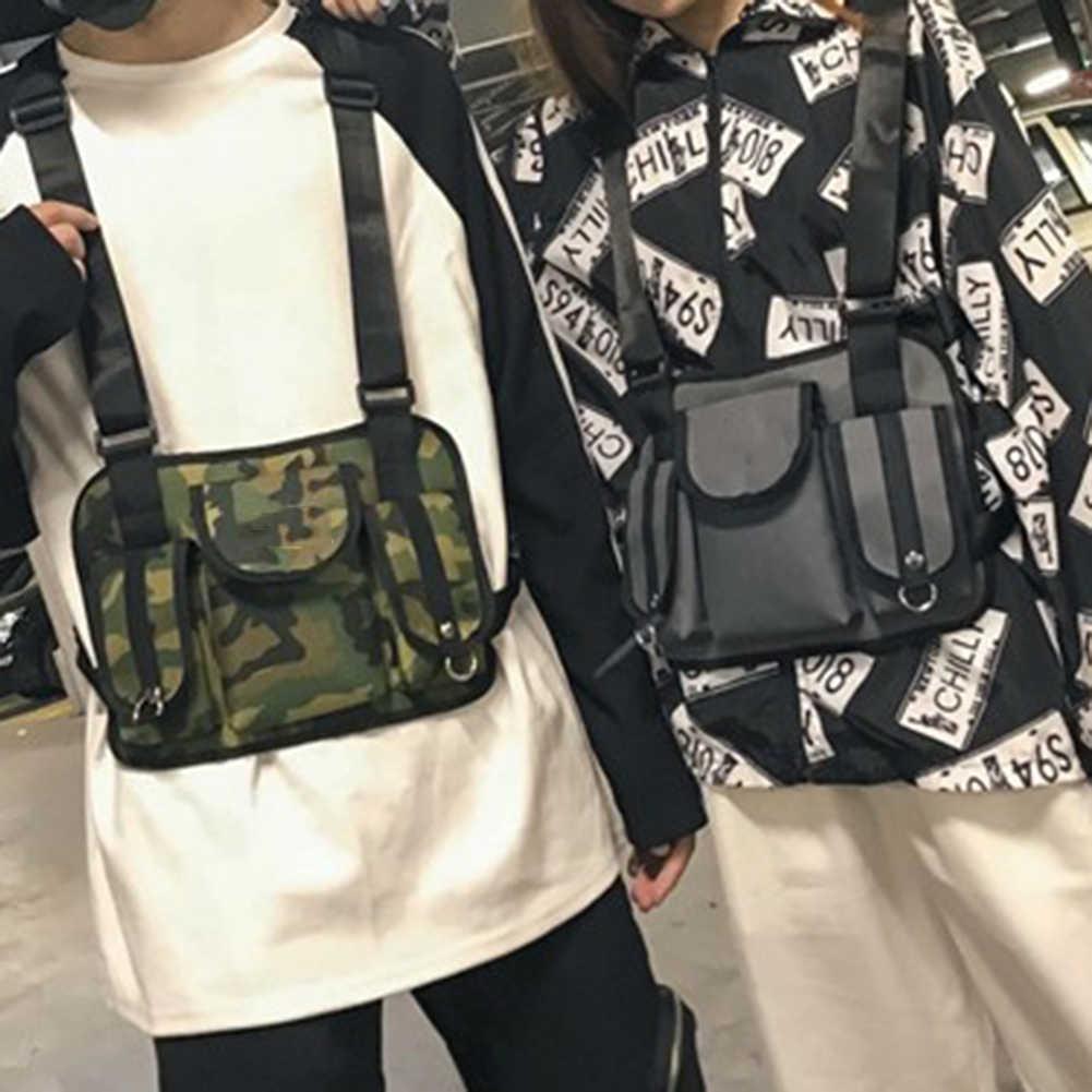 2019 Mini Pria Dada Rig Streetwear Olahraga Outdoor Pinggang Casing Permainan Tas Rompi Bahu Ponsel Uang Sabuk Tas