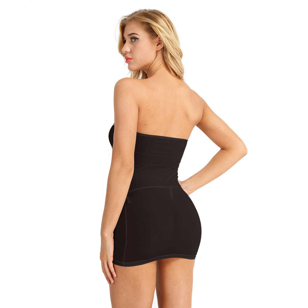 87e56ffaae84 ... iiniim Ultra Thin Sexy Ladies Dress Strapless Long Tube Top Dress Sexy  Night Clubwear Wetlook See ...
