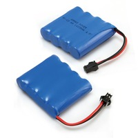2 ピース高容量 4.8 ボルト 1400 mah Ni Cd 電池パック充電式 RC Ni-Cd SM 2Pin プラグ単三電池おもちゃの車
