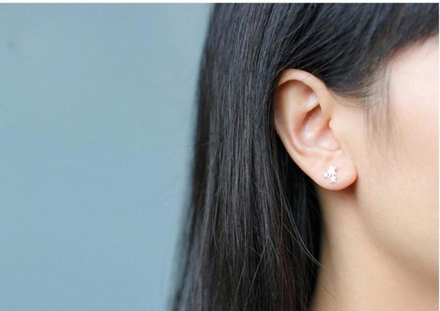 Three Star Stud Earrings For Women