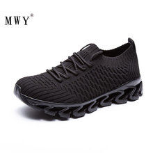 MWY Sports Shoes For Male  Running Zapatillas Hombre Deportiva Lace Up Athletic Breathable Men Sneakers Walking