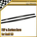 Car-styling For Audi S3 Carbon Fiber MX Style Side Skirt Extension (Sedan)