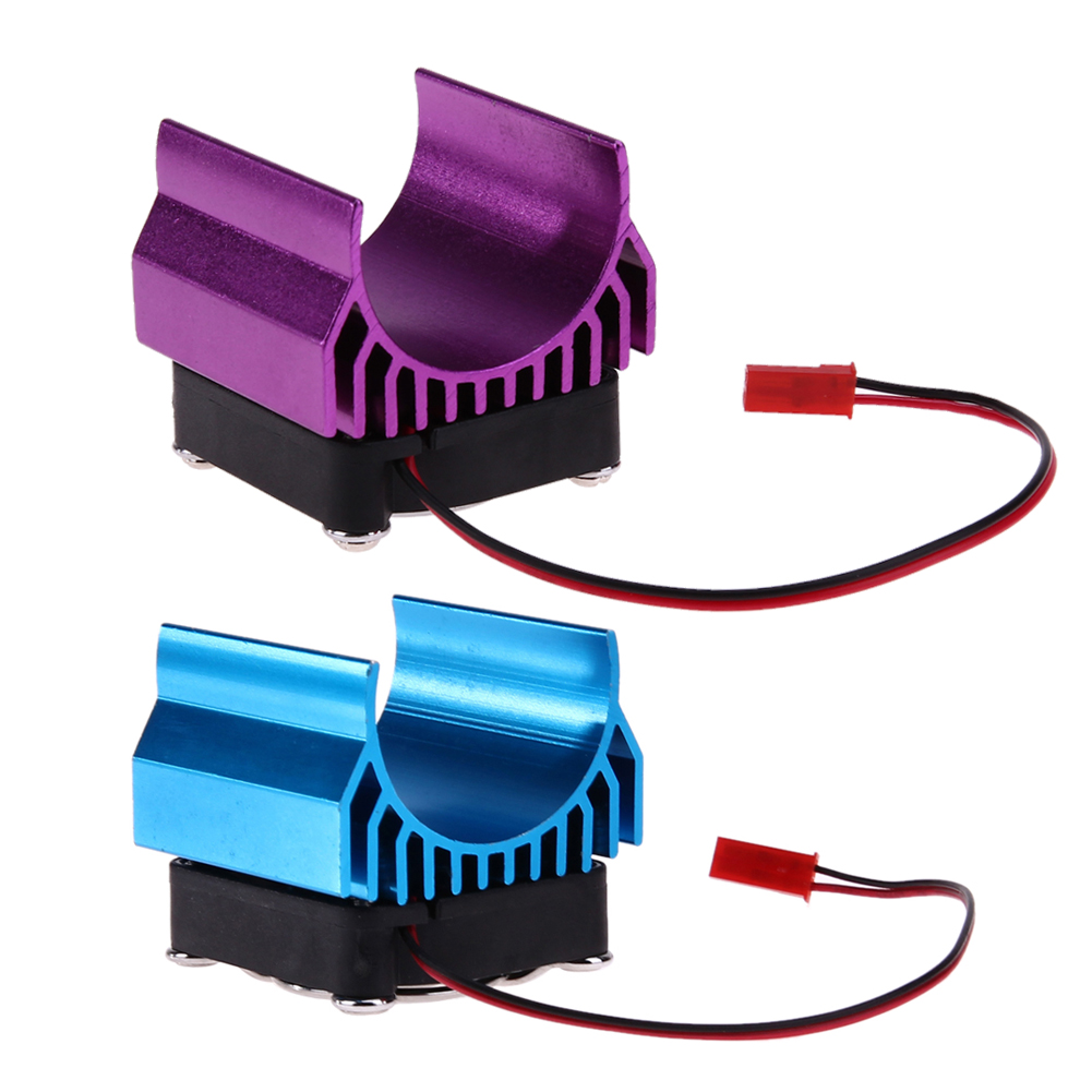 Motor Heat Sink with Super Fan Cooling Head for 1/10 HSP HPI Wltoys Himoto Tamiya RC Car 540/550/3650 Motor RC Parts Blue Purple