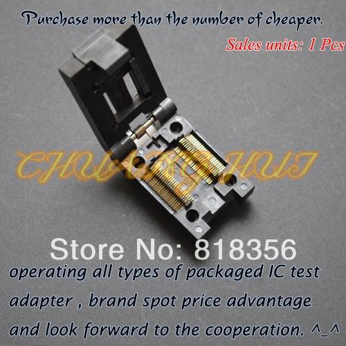 IC TEST FP-48-0.635 test socke Clamshell SSOP48 socket Pitch=0.635mm Width=10mm/15mm