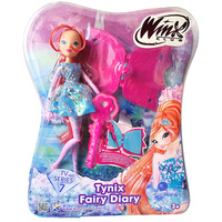 Newest Tynix Fairy Diary Winx Club Doll Rainbow Colorful Girl Dolls with Wings Classic Toys for Girls Gifts