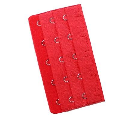 5 шт., расширители для бюстгальтера, удлинение пряжки, 3 крючка, 1, 2, 3, 4, 5 крючков, расширитель для бюстгальтера, инструмент для шитья, аксессуары для женщин - Цвет: Red 5 buckle