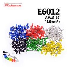20/50/100 шт E6012 труба изоляционные терминалы AWG 10 изолированный кабель провод 6.0mm2 разъем изоляционные обжимной терминал для подключения