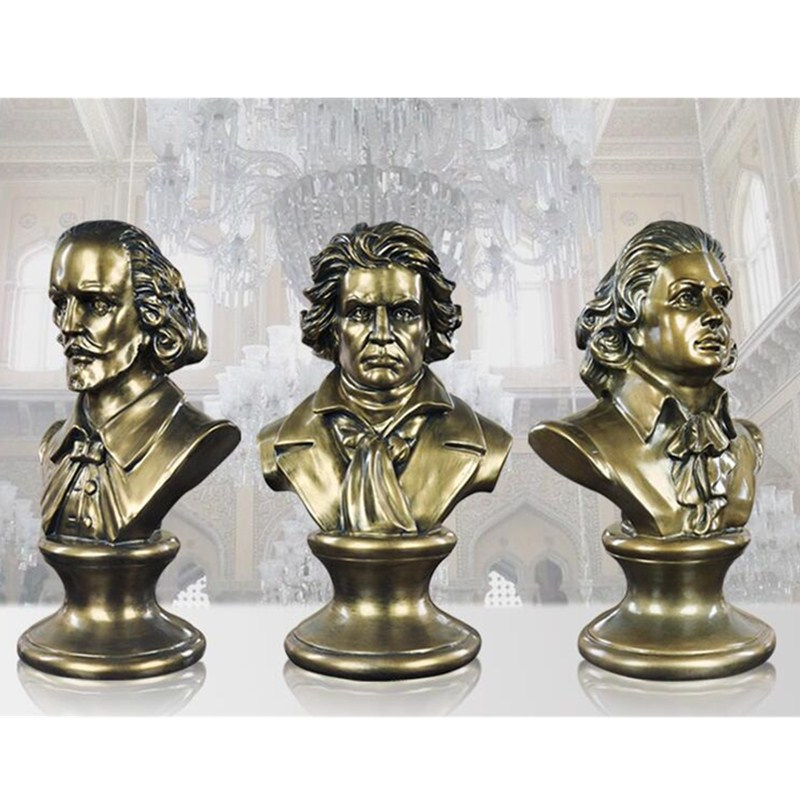 Ludwig van Beethoven Bust Half-Length Photo Or Portrait Statue Resin Craftwork Home Furn ...