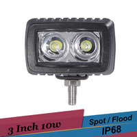 10w LED Work Light Spot Flood Offorad Led Lights Car Truck SUV ATV Boat 4x4 4WD