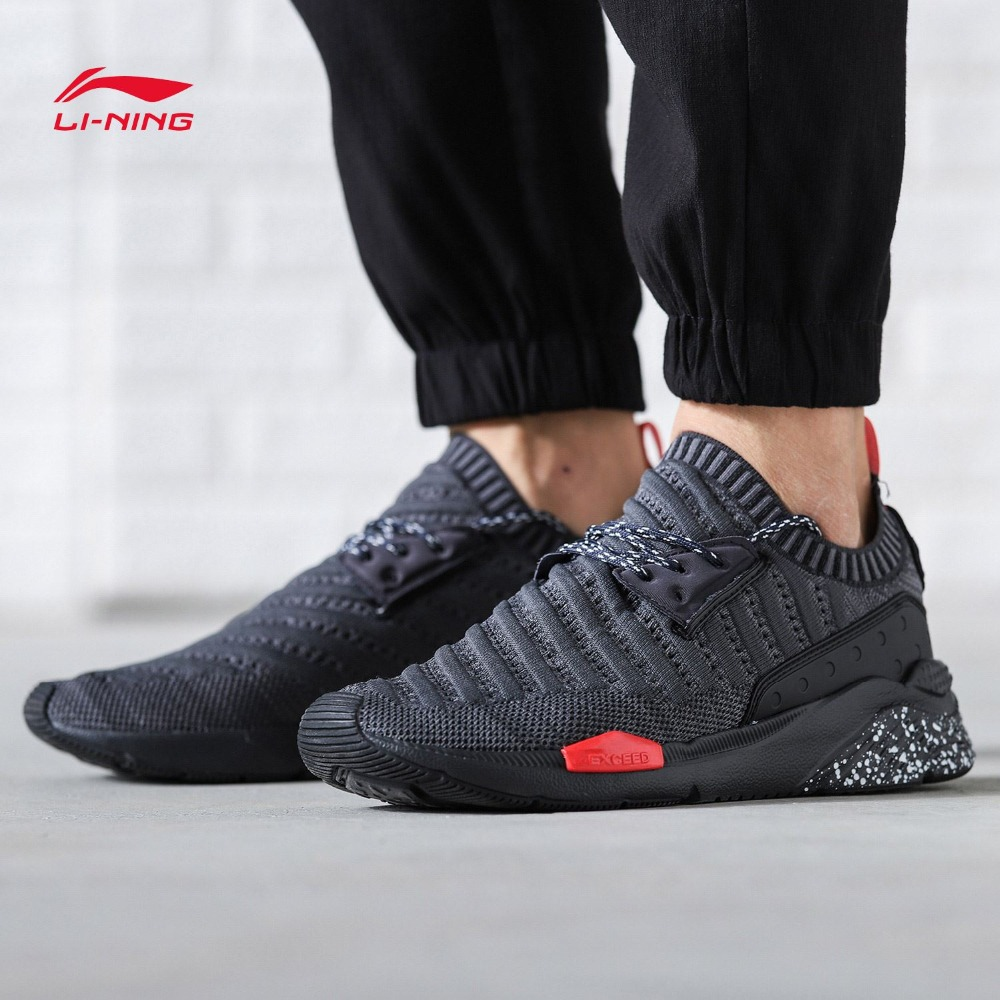 Li Ning Men Sports Life Walking Shoes Athletic Running Sneakers Light LiNing Sports Shoes Leisure Breathable
