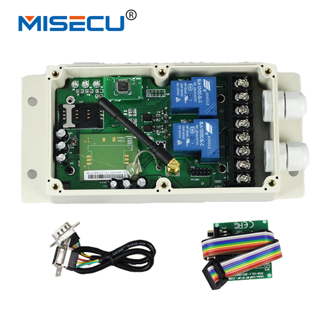 Quad Band 2CH GSM Remote Control System (SMS Relay Control box)  Android APP control