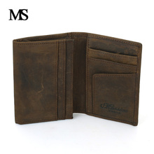 Genuine Leather Business Cards Holders Fashion New Package Short Style 2 Folds Credit Card Holder TWB027-1