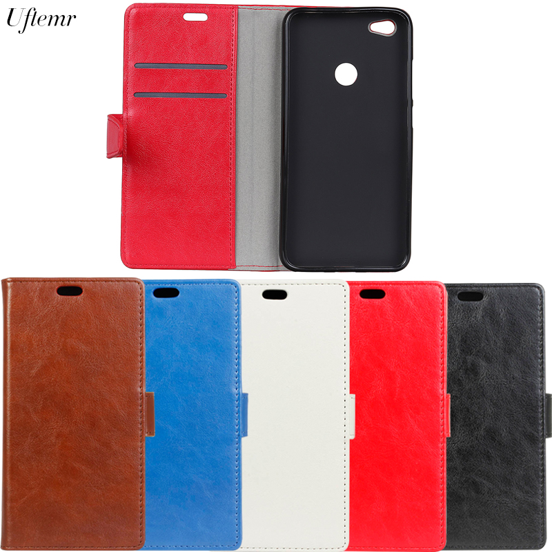Uftemr Luxury Business Leather Case For ZTE BLADE A6 Crazy House Skin Flip Cover For ZTE BLADE A6 Phone Accessories