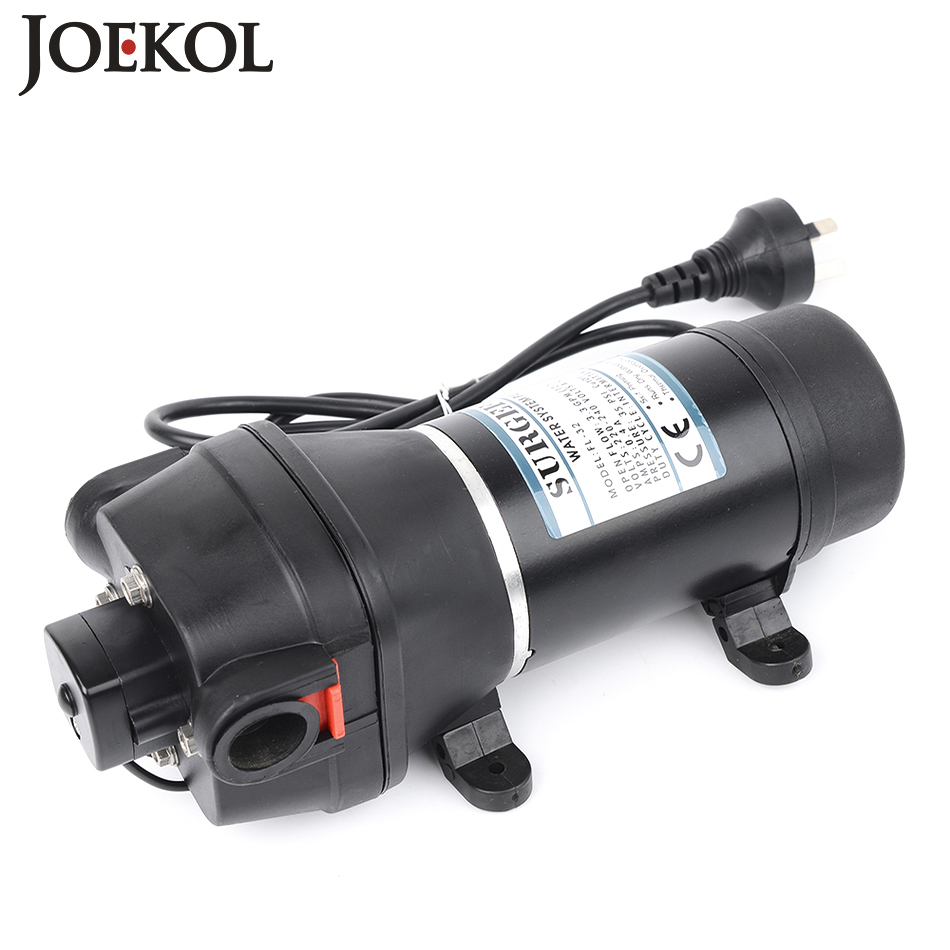 FL-32 110v/220v ac water pump self-priming diaphragm pump mini Submersible pump automatic pressure switch 20m lift 51mm dc 12v water oil diesel fuel transfer pump submersible pump scar camping fishing submersible switch stainless steel