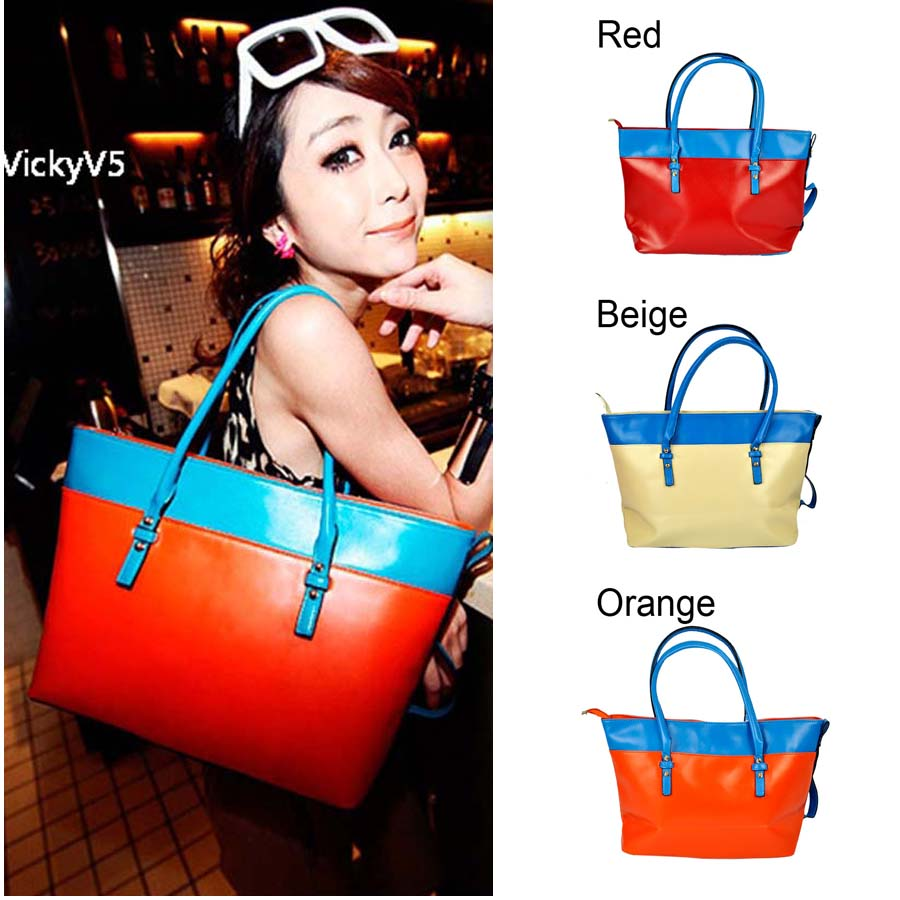 New design fashion women shoulder font b bag b font Girl PU leather handbag casual high