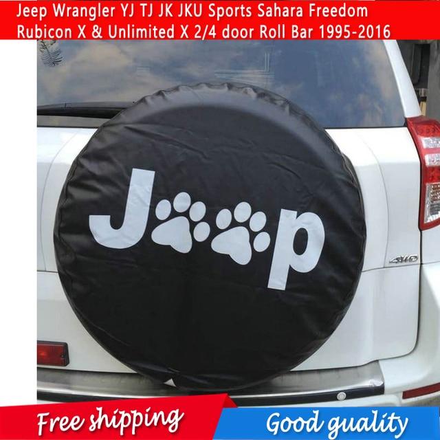 Spare Tire Cover For Jeep Wrangler YJ TJ JK JKU Sports Sahara Freedom  Rubicon X U0026