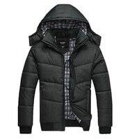 الشتاء سترة دافئة معطف سترة أبلى معطف الرجال الكلاسيكية الصلبة القطن مبطن مقنعين معطف رجالي القطن الستر