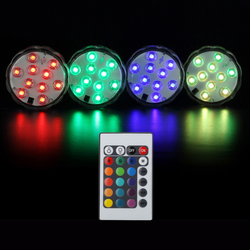 Party Lamp Underwater With Remote Control Diving Lamp Decoration Waterproof Multi Colored Light Bulb Submersible RGB LED Light mipow btl300 creative led light bluetooth aromatherapy flameless candle voice control lamp holiday party decoration gift