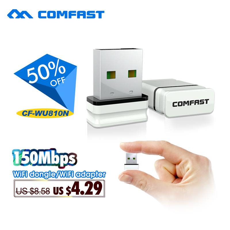 150Mbps Mini USB  Wireless Adapter COMFAST CF-WU810N Network Card RTL8188EUS Chipset  Usb Wifi Wlan Card /wifi Dongle