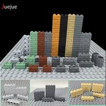 Городские растения DIY блок кирпич 1X2 стены кирпич MOC строительные блоки части совместимы с Legoed блоки творческие детские игрушки подарки