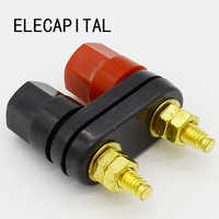 Quality Banana plugs Couple Terminals Red Black Connector Amplifier Terminal Binding Post Banana Speaker Plug Jack