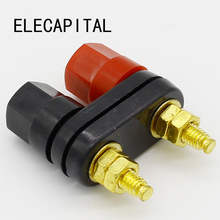 Top Selling Quality Banana plugs Couple Terminals Red Black Connector Amplifier Terminal Binding Post Speaker Plug Jack