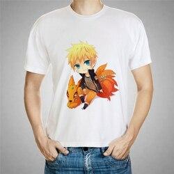 Naruto i Jiuwei Fox cartoon drukowanie męska koszulka nastolatki nowy krótki T-shirt Naruto koszula nastolatki Sakata Gintoki koszulki 57-22 # 1