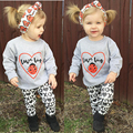 Baby Girls Clothing Set Kids Toddler Long Sleeve Shirt Tops+Pants+Headband 3Pc Outfit Set