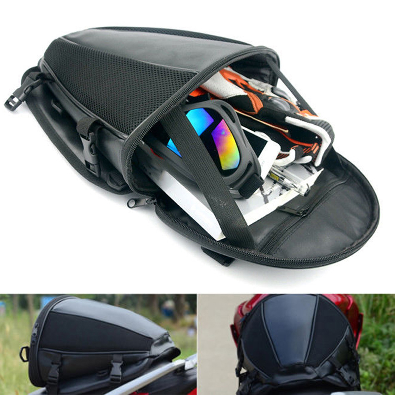 Universal Motorcycle Scooter Back Seat Riding Tail Saddle Storage Luggage Bag